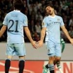 Le pagelle di Manchester City-Sporting Lisbona: Aguero e Fernandez i migliori, Balotelli nervoso. In ombra Pizarro