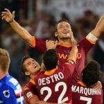 ROMA-SAMPDORIA 1-1 – Totti fa 216 ma non basta, l'Olimpico è ancora un tabù